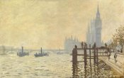 Claude Monet - The Thames Below Westminster 1871