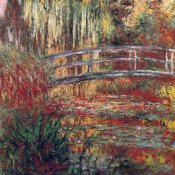 Claude Monet - Water Garden And Japanese Footbridge 1900