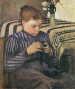 Camille Pissarro - Young Woman Mending 1895