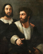 Raphael - Double Portrait And His Fencing Master