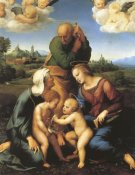 Raphael - Holy Family With Saints Elizabeth And John