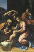 Raphael - Holy Family With Sts Elizabeth And John And Two Angels