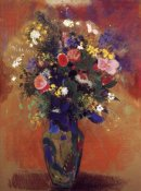 Odilon Redon - Bouquet In A Persian Vase