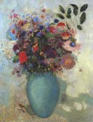 Odilon Redon - Flowers In A Turquoise Vase
