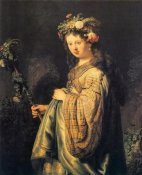 Rembrandt Van Rijn - Saskia As Flora Version 2