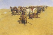 Frederic Remington - An Old Time Plains Fight