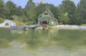 Frederic Remington - Boat House At Ingleneuk