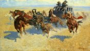 Frederic Remington - Downing The Nigh Leader