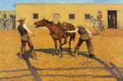 Frederic Remington - His First Lesson
