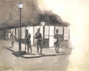 Frederic Remington - Illinois Natl Guards Picket In Streets Of Chicago