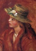 Pierre-Auguste Renoir - Girl With Straw Hat