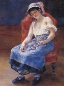 Pierre-Auguste Renoir - Sleeping Girl With Cat
