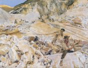 John Singer Sargent - Bringing Down Marble from Quarries to Carrara