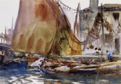 John Singer Sargent - Drying Sails, 1902-04