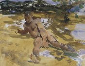 John Singer Sargent - Figure on a Beach, Florida, 1917