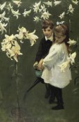 John Singer Sargent - Garden Study of the Vickars Children 1884