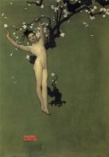 John Singer Sargent - Nude Oriental Youth with Apple Blossom, 1878-79