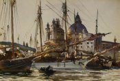 John Singer Sargent - The Church of Santa Maria della Salute from Giudecca, 1904-09