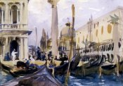 John Singer Sargent - The Piazzetta with Gondolas, 1902-04