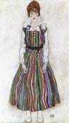 Egon Schiele - Portrait Of The Artist's Wife Standing