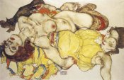 Egon Schiele - Two Girls Lying Entwined