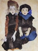 Egon Schiele - Two Little Girls