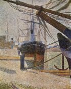 Georges Seurat - Dockside At Honfleur