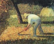 Georges Seurat - Farm Laborer With Hoe