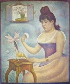 Georges Seurat - Young Woman Powdering Herself