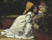 James Tissot - Girl In Armchair The Convalescent