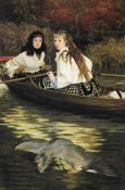 James Tissot - On The Thames A Heron 1872