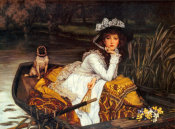 James Tissot - Young Lady In Boat