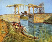 Vincent Van Gogh - Langlois Bridge Women Washing
