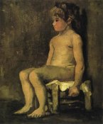 Vincent Van Gogh - Nude Study Of A Little Girl Seated 1886