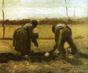 Vincent Van Gogh - Peasants Planting Potatoes