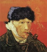 Vincent Van Gogh - Self Portrait Ear And Pipe