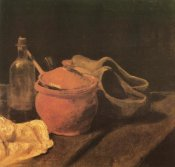 Vincent Van Gogh - Still Life Earthenware Bottle And Clogs