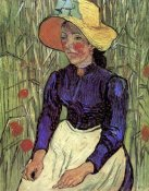 Vincent Van Gogh - Young Peasant Woman Straw Hat