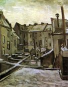 Vincent Van Gogh - Backyards Old Houses Antwerp Snow