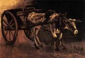 Vincent Van Gogh - Cart Red White Ox