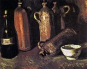 Vincent Van Gogh - Four Stone Bottles Flask