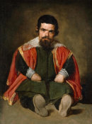Diego Velazquez - A Dwarf Sitting On The Floor