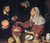 Diego Velazquez - Old Woman Cooking Eggs