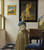 Johannes Vermeer - Lady Standing At A Virginal