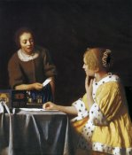 Johannes Vermeer - Lady With A Maidservant Holding A Letter