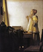 Johannes Vermeer - Woman With A Pearl Necklace
