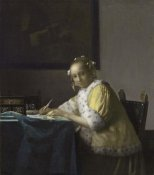 Johannes Vermeer - Writing Lady In Yellow Jacket