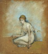 James McNeill Whistler - A Seated Figure 1870