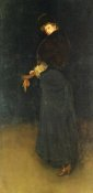 James McNeill Whistler - Arrangement In Black La Dame Au Brodequin Jaune 1882