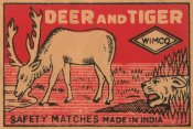 Phillumenart - Deer and Tiger Safety Matches